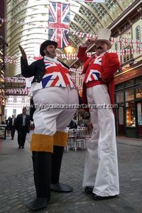 British & Other Nations Themed Stilt Walkers